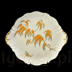 porcelanowa patera śląskiej wytwórni