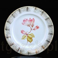 Dekoracyjny talerz z magnolią i oryginalnymi złoceniami - Thomas Selb-Bavaria