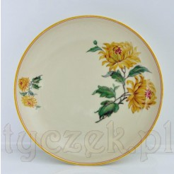 Porcelanowa patera KPM zdobiona motywem chryzantem