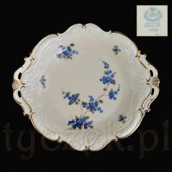 Zabytkowa porcelana Sorau zdobiona moywem błękitnej mimozy - MIMOSE