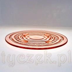 Różowo - łososiowe szkło w formie tortownicy