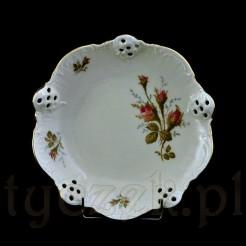 Cudeńko ze znakomitej porcelany Rosenthal w kolorze ecru z różą
