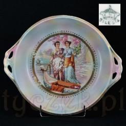 Silesia- sygnowana porcelana Śląska - zabytek ze scenką rodzajową