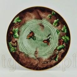 Cudowna paterka na orzechy i kasztany z ręcznie malowanej porcelany Tillowitz