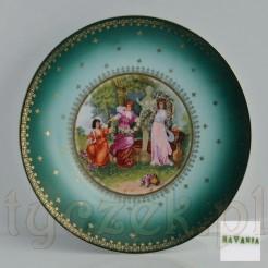 Dekoracyjny ścienny talerz Bavaria z piękna scenką