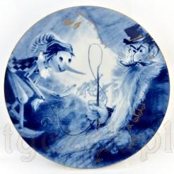 Uroczy baśniowy talerz z Miśni