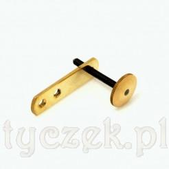 Śrubowy regulator mosiężny do drewnianych zegarów wiszących