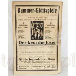 Zabytkowy plakat kinowy Der Keusche Josef