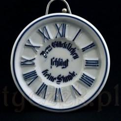 Porcelanowy podstawek w fiormie zegarka - antyk z XIX wieku