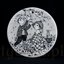 Oktober porcelanowy podstawek dekoracyjny