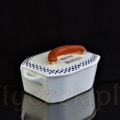 Ciekawy ceramiczny pojemnik na parówki