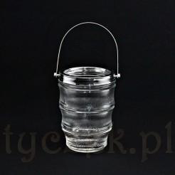 ciekawy szklany pojemnik na lód