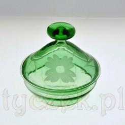 Szklane zielone puzdro idealne na waciki