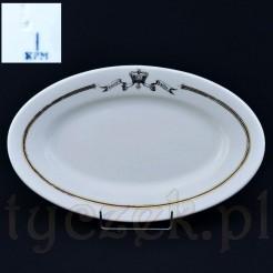 Oryginalna porcelana marki KPM ozdobiona reklamowym nagłówkiem