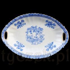 Elegancka biała porcelana z niebieskim wzorem w stylu China Blau