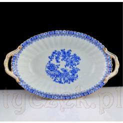 Biało niebieski wzór CHINA BLAU zdobi niezwykłą paterę