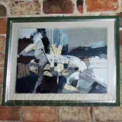Abstrakcyjny obraz autorstwa polskiego artysty.