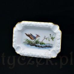 Ekskluzywna popielnica marki Rosenthal wzór Maria z rajskim ptakiem