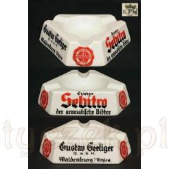 KPM sygnowana popielniczka z porcelany reklama SEBITRO