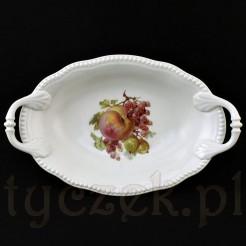 Luksusowa patera na owoce w kształcie owalnego półmiska