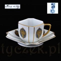 Luksusowa filiżanka z antycznej porcelany