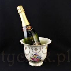 Krater na btelke szampana lub dobrego wina z porcelany Furstenberg