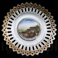 Zabytkowy talerz porcelanowy ze Szwajcarki Na Szczelińcu