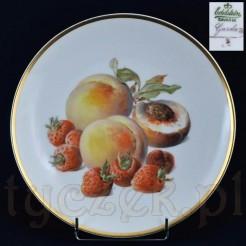 Bawarski talerz dekoracyjny z motywem owoców marki EDELSTEIn