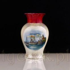 Kolekcjonerska porcelana z widokiem na KOLBERG HAFEN - antyk Kołobrzeg