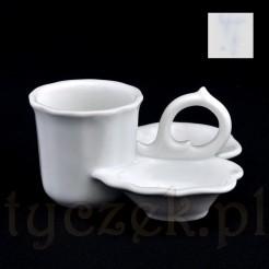 Antyczna porcelana w formie trojaka na przyprawy