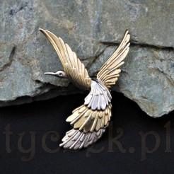 zabytkowa broszka wykonana ze srebra