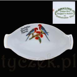 Kolekcjonerska porcelana zdobiona motywem papug australijskich