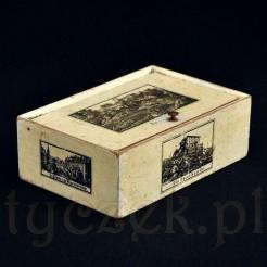 Ślaska kasetka pamiątkowa z XIX wiecznymi zabytkami