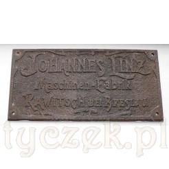 zabytkowa żeliwna tablica