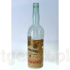 Olbrzymia reklamowa butelka z etykietą reklamową