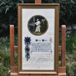 Oryginalny reskrypt z błogosławieństwem i odpustem papieża Piusa XI