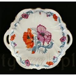 Kwitnące maki na porcelanowej paterze Rosenthal