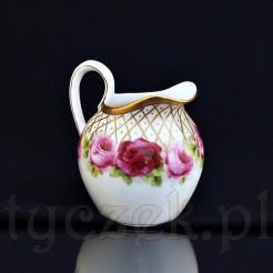 Oryginalny pięknie dekorowany porcelanowy mlecznik z Bawarii