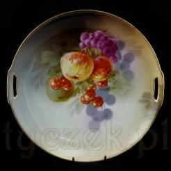 Śląska porcelanowa patera z motywem soczystych owoców