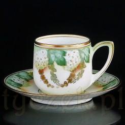RS niezwykle ciekawy egzemplarz śląskiej porcelany