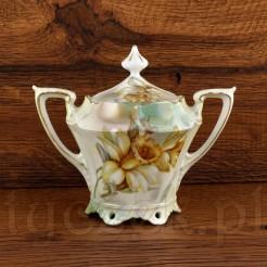 RS PRUSSIA dostojna cukiernica z markowej porcelany