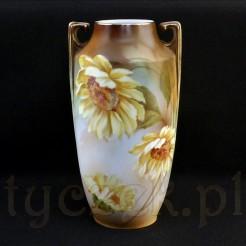Dekorowany motywem słoneczników wazon z Tillowitz