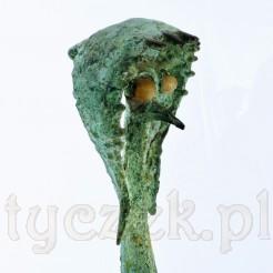 Niezwykły ptak - rzeźba z brązu