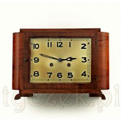 Art Deco - ciekawy zegar salonowy w orzechowej okleinie
