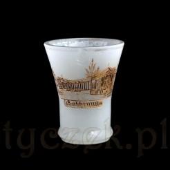 Kieliszek ze szkła opalowego ręcznie szlifowany