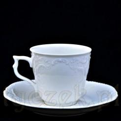 Śnieżnobiała filiżanka do kawy Sanssouci marki Rosenthal