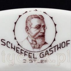 """""""Gasthof Scheffel Distler - zabytkowy okaz reklamowy"""