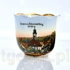 Porcelanowy kubek z widoczkiem kościoła