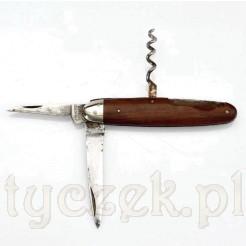 Zabytkowy, elegancki scyzoryk Solingen z korkociągiem