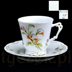 Secesyjna porcelana zdobiona kwiatem Kalia